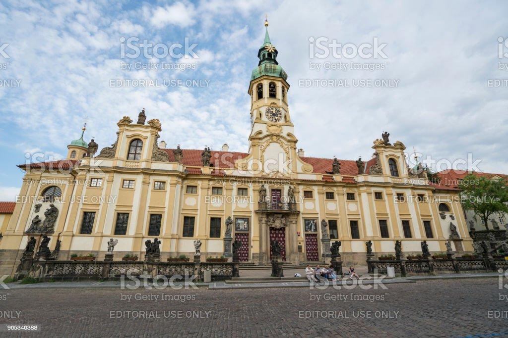 Loreta church in Prague zbiór zdjęć royalty-free