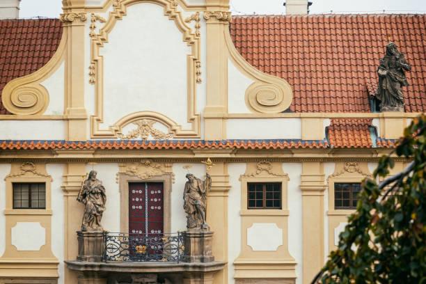 Loreta historical building in Prague facade stock photo