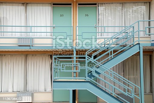 Close Up View to the Facade of Lorraine Motel