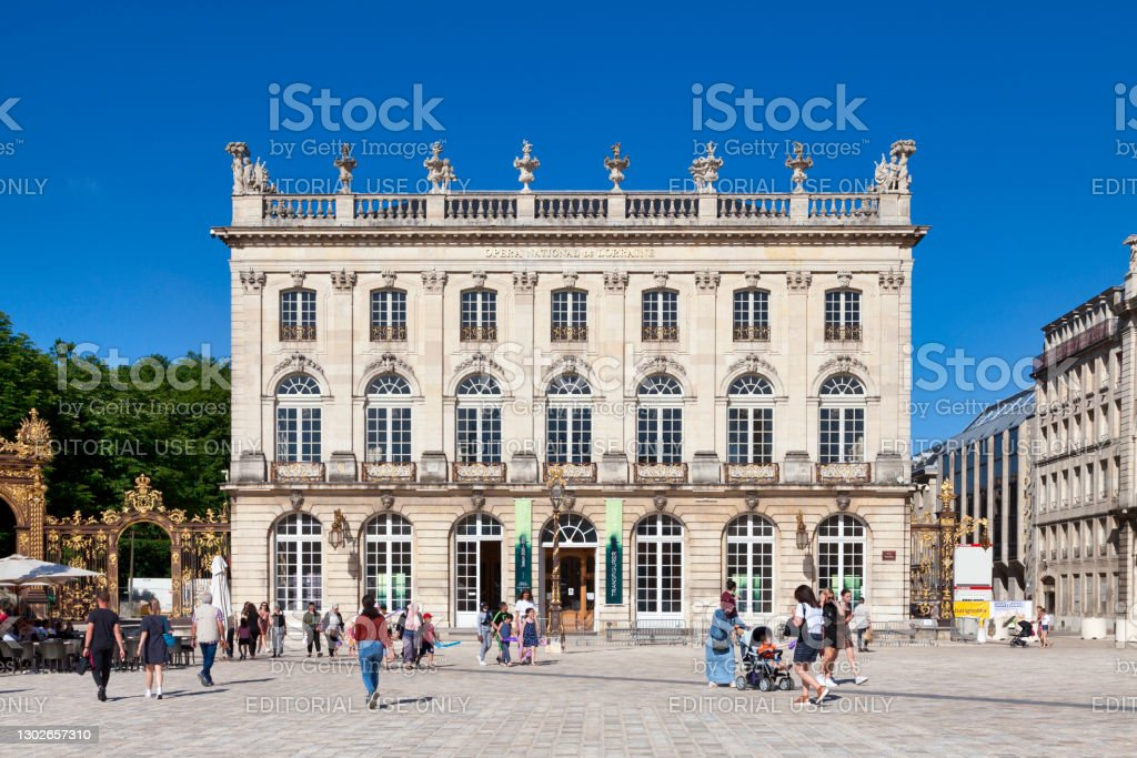 Lorraine National Opera in Nancy Nancy, France - June 24 2020: The Lorraine National Opera is an opera house on Place Stanislas. Architecture Stock Photo