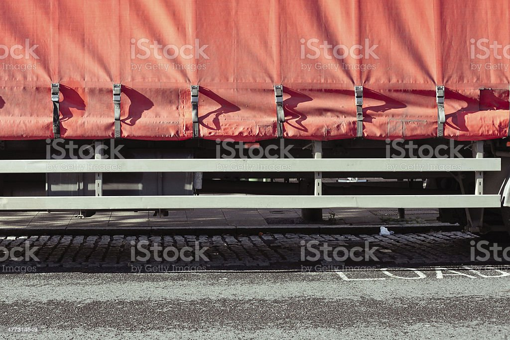 Lorry cover stock photo