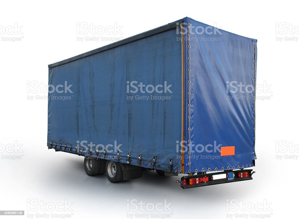 Lorry Curtain Side trailer stock photo