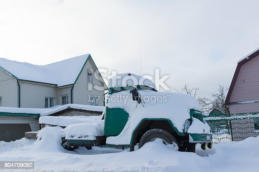 istock Lorry in the snow 804709092