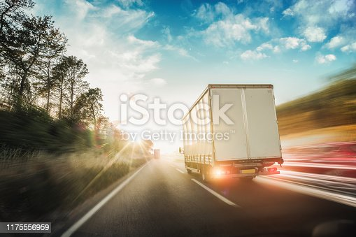 506292564 istock photo Lorry on motorway in motion 1175556959