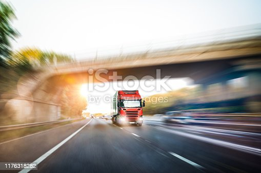 506292564 istock photo Lorry on motorway in motion 1176318282