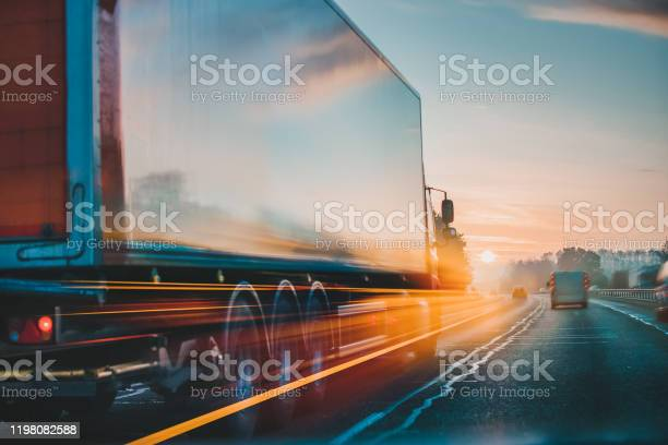 Photo of Lorry on motorway in motion