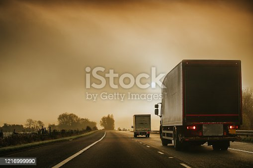 506292564 istock photo Lorry on motorway in motion 1216999990