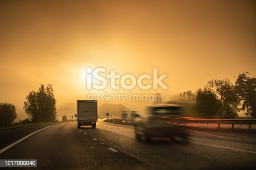 506292564 istock photo Lorry on motorway in motion 1217000040