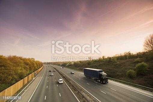 506292564 istock photo Lorry on motorway 1142073712