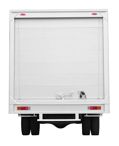 lorry. - rear view stock photos and pictures