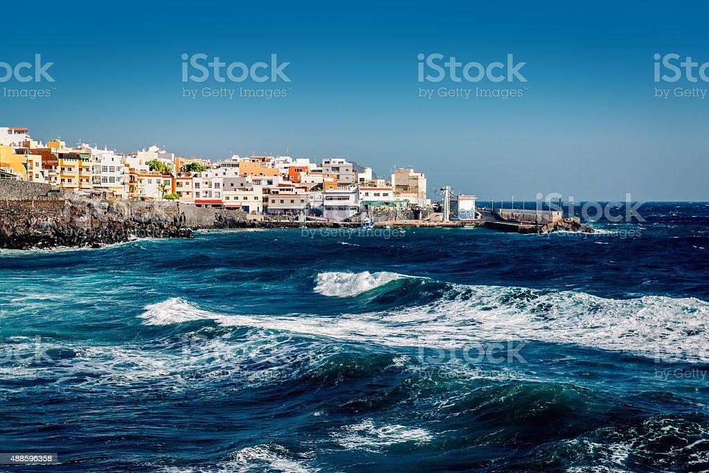 Los Abrigos, fishing village in Granadilla de Abona, Tenerife stock photo