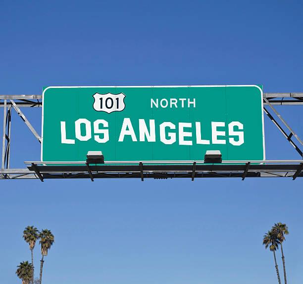 los angeles 101 freeway - - ortsschild stock-fotos und bilder