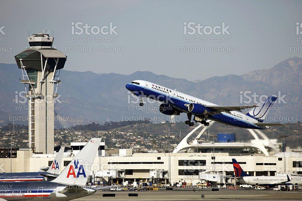 Los Angeles Airport stock photo