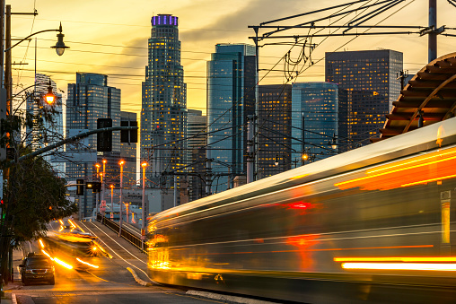 Los Angeles in the evening hour