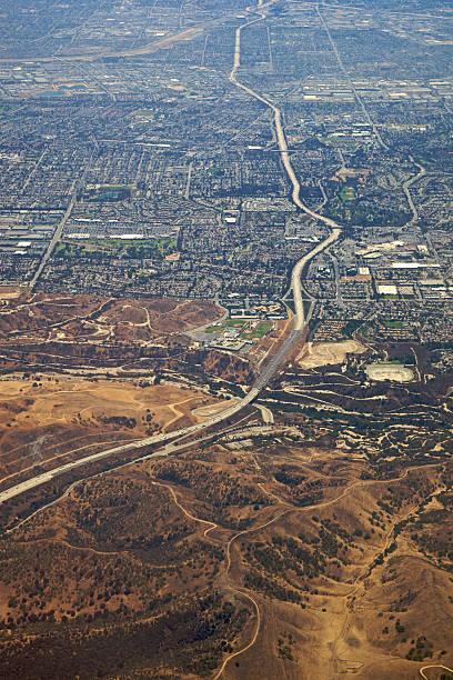 Los Angeles at 5,000 Feet XXXL stock photo