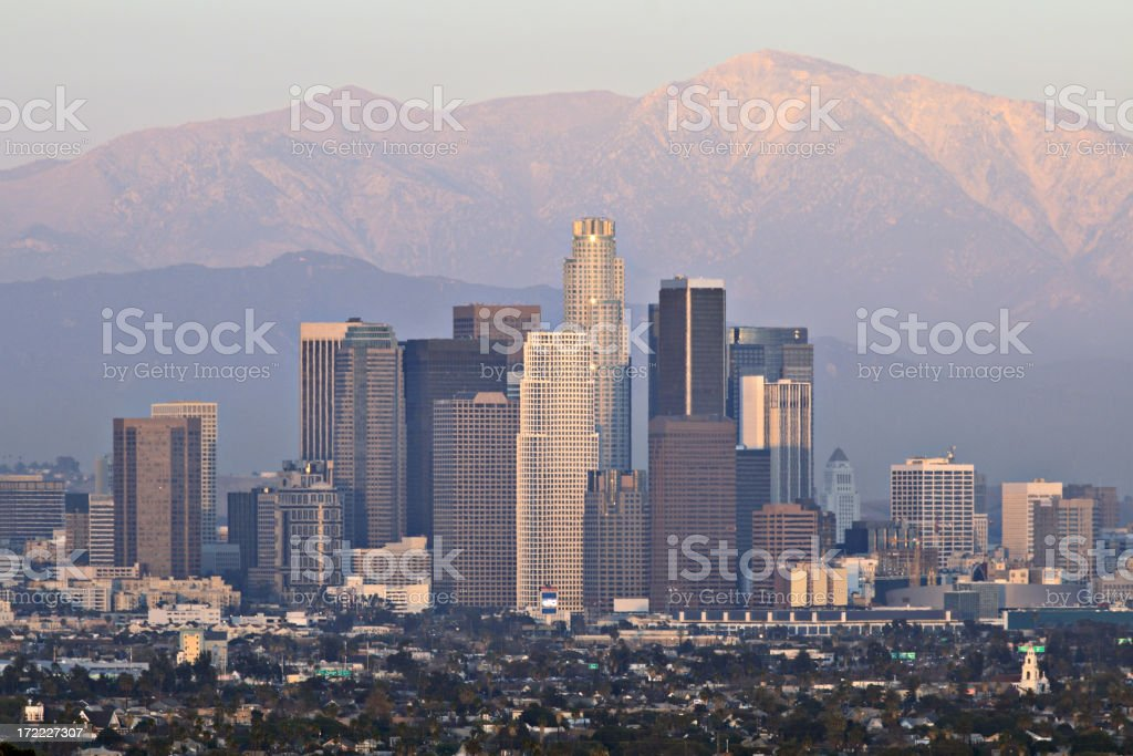 Los Angeles at dusk royalty-free stock photo