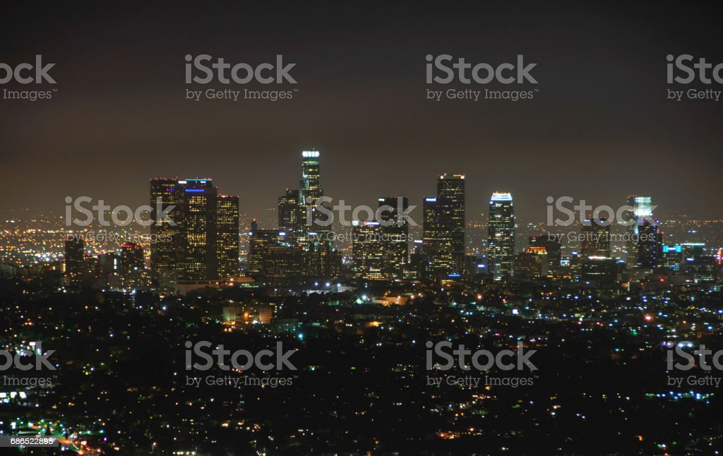 Los Angeles at night zbiór zdjęć royalty-free