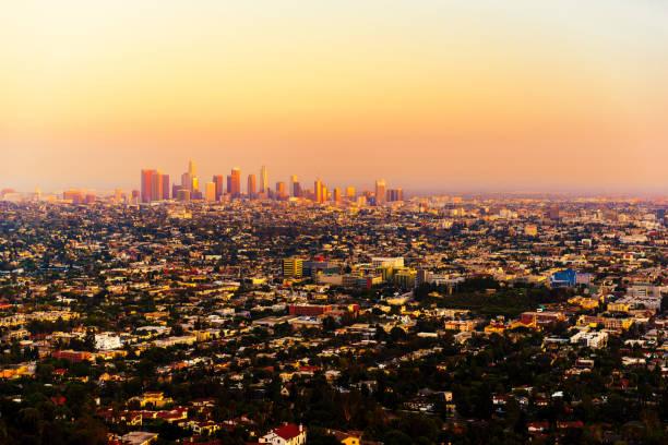 Los Angeles bei Sonnenuntergang – Foto