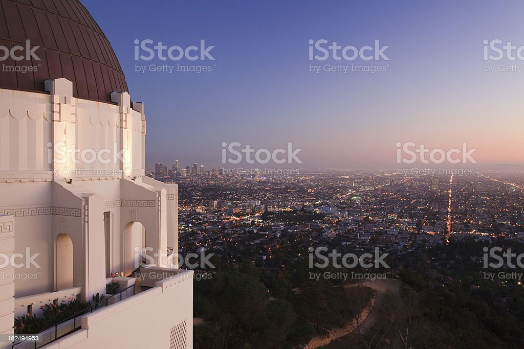 Los Angeles at Twilight/Sunset stock photo