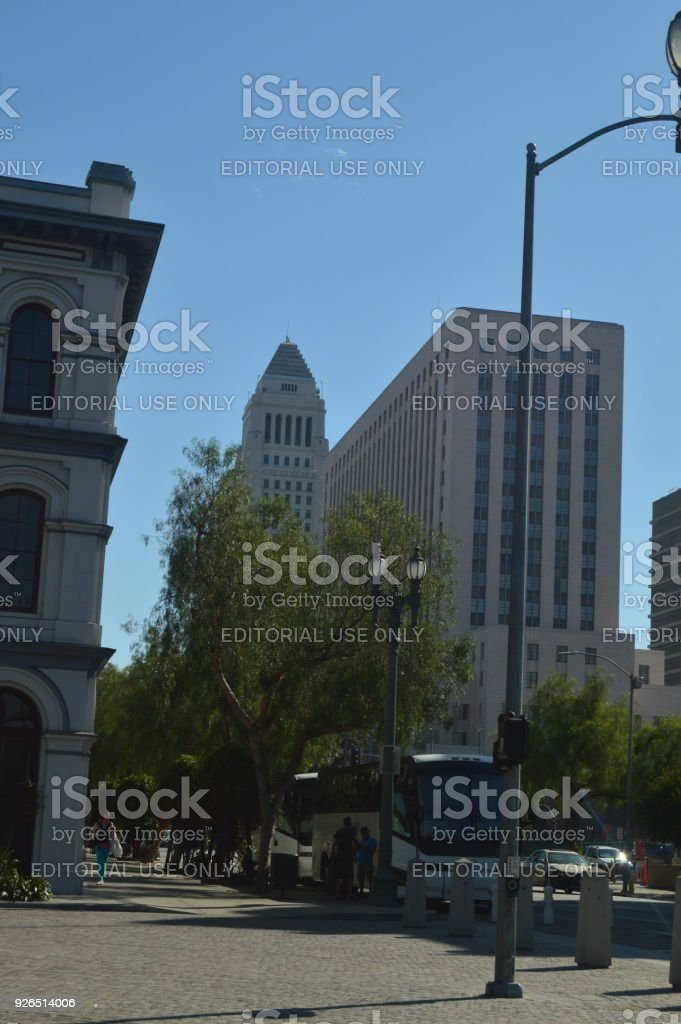 Los Angeles Business Center Seen From Downtown Los Angeles. stock photo