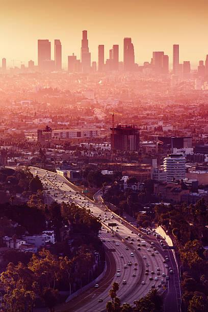Los Angeles - California City Skyline stock photo