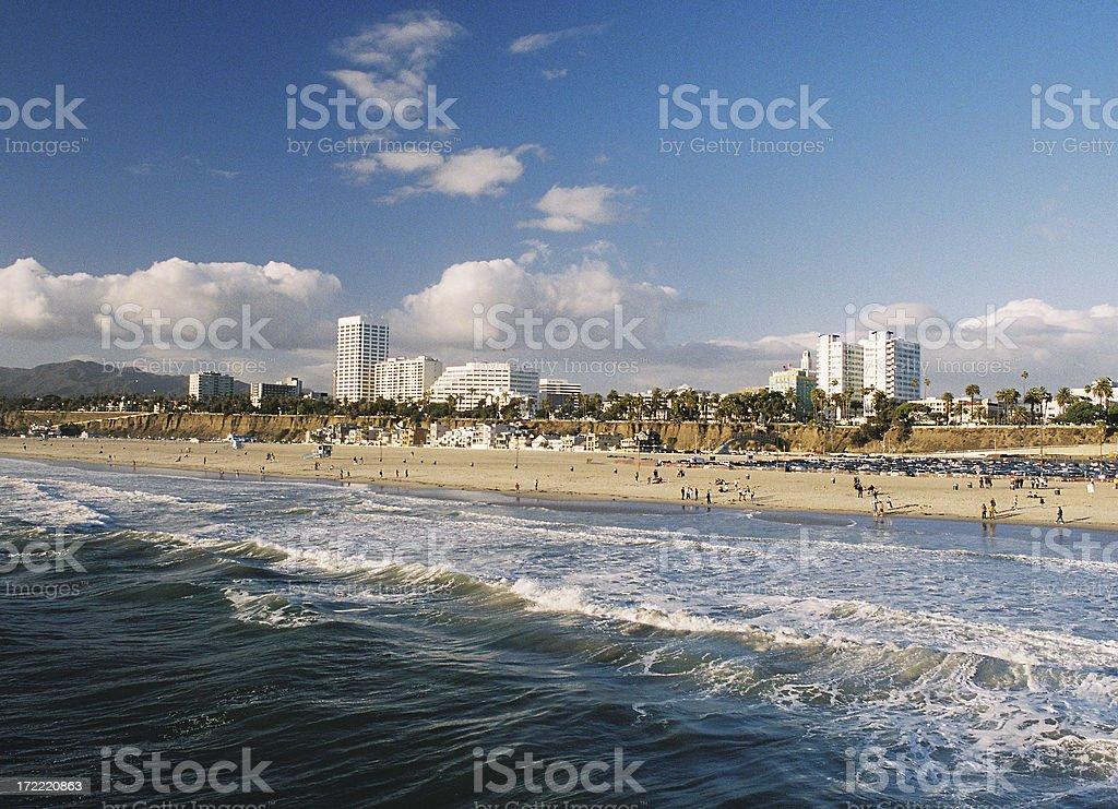 Los Angeles California Coastal beach ocean city scene royalty-free stock photo