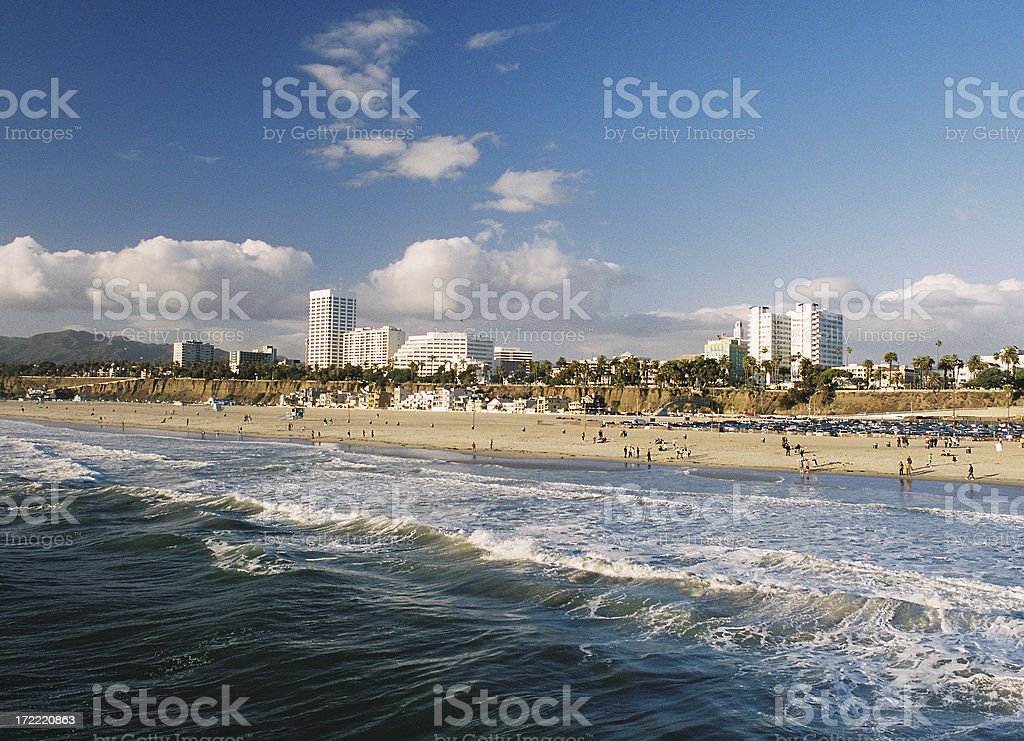 Los Angeles California Coastal beach ocean city scene stock photo