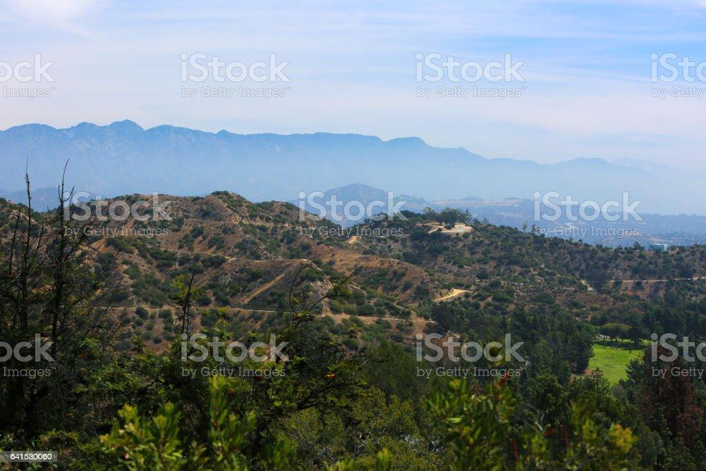 Los Angeles California Mountains stock photo
