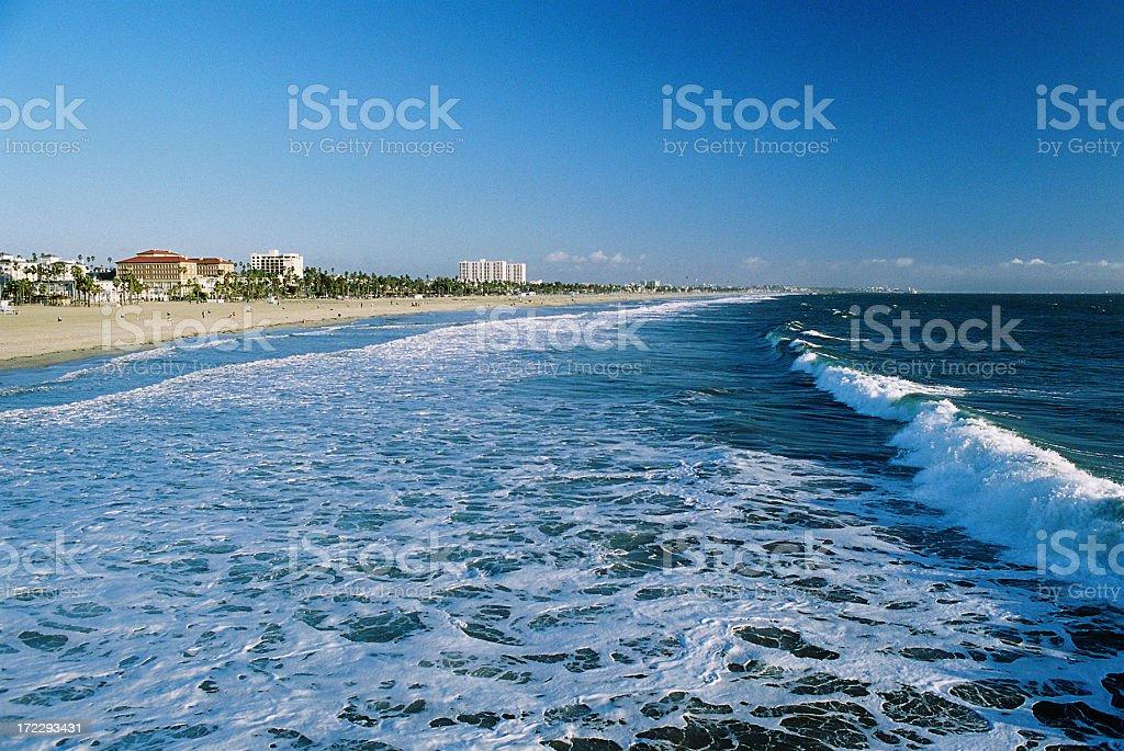 Los Angeles California Pacific ocean coastal view royalty-free stock photo