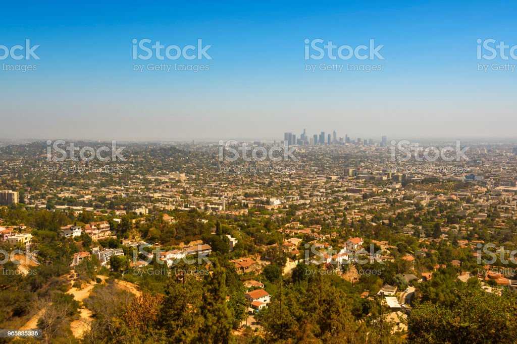 Los Angeles, California - Royalty-free Aerial View Stock Photo
