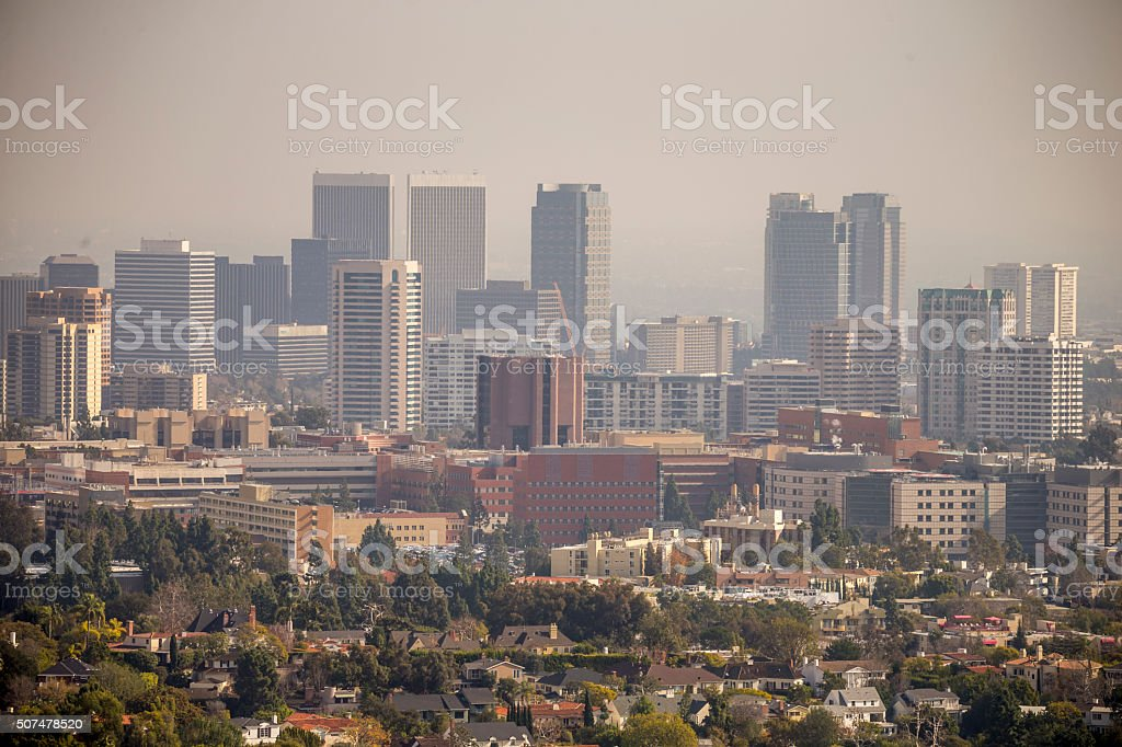 Los angeles california skyline in the haze stock photo istock los angeles california skyline in the haze royalty free stock photo sciox Gallery