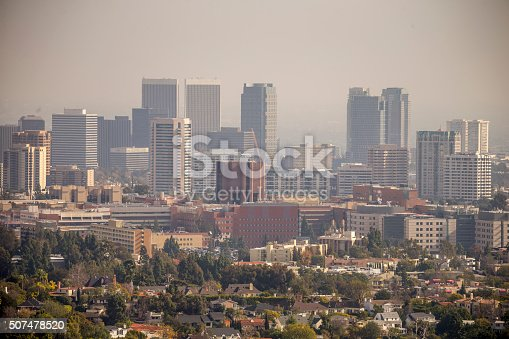 Los angeles california skyline in the haze stock photo istock sciox Gallery
