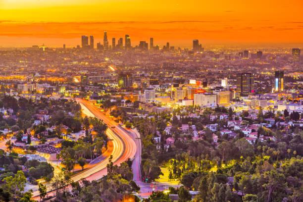 Los Angeles, California Skyline stock photo
