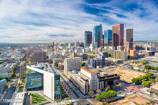 istock Los Angeles, California, USA Downtown Aerial Cityscape 1256323866