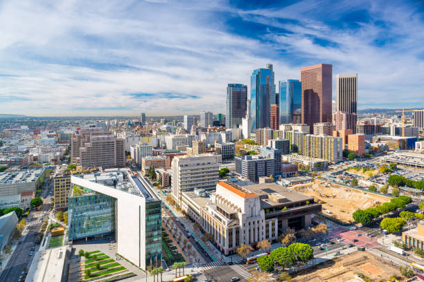 Los Angeles, California, USA Downtown Aerial Cityscape stock photo
