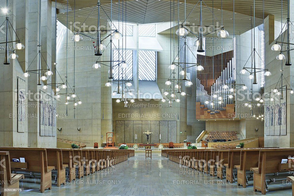 Los Angeles Cathedral stock photo