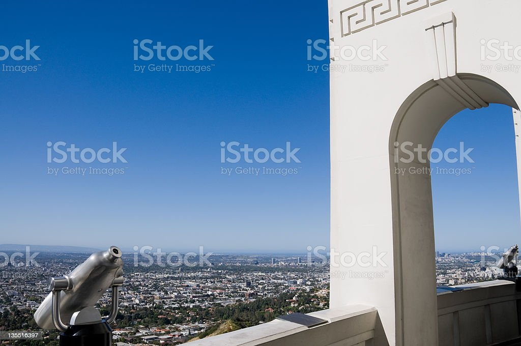 Los Angeles city from above royalty-free stock photo