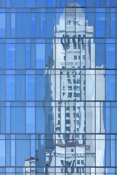 Los Angeles City Hall - Reflection stock photo