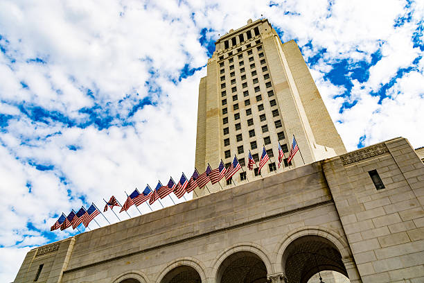 Los Angeles - City Hall Tower stock photo