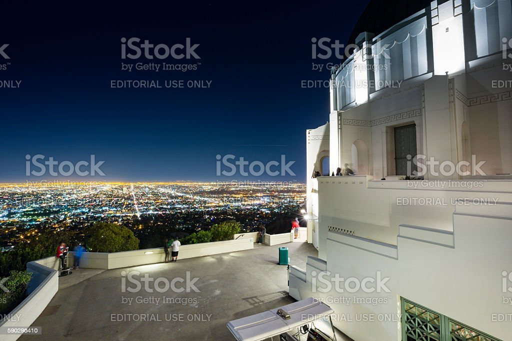 Los Angeles city skyline royaltyfri bildbanksbilder
