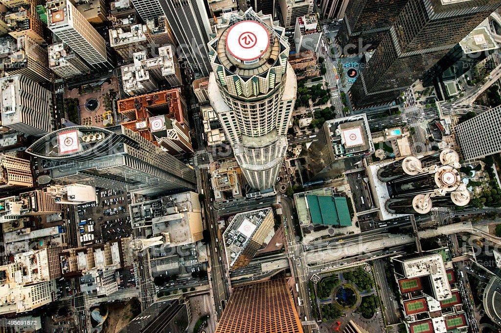 Los Angeles city tallest buildings stock photo