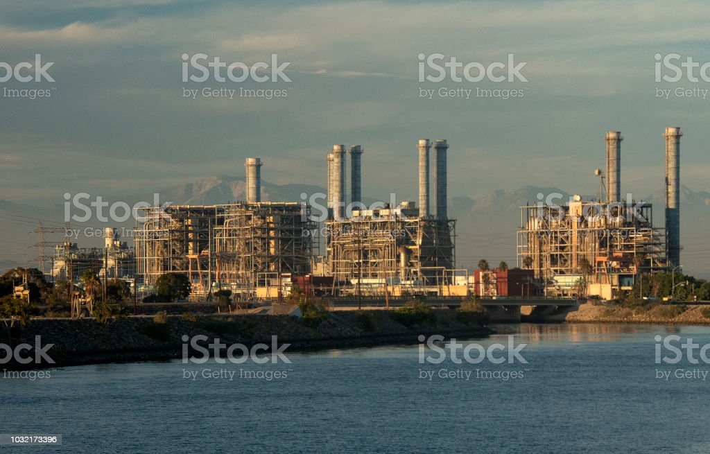 Los Angeles County Power Plant stock photo