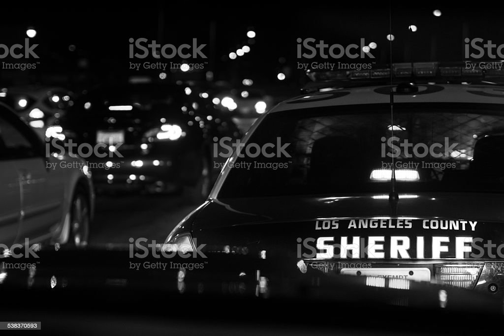 Los Angeles County Sheriff stock photo