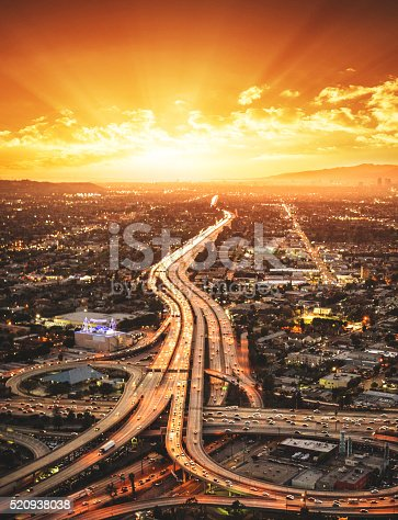 istock Los Angeles crossway junction aerial view 520938038