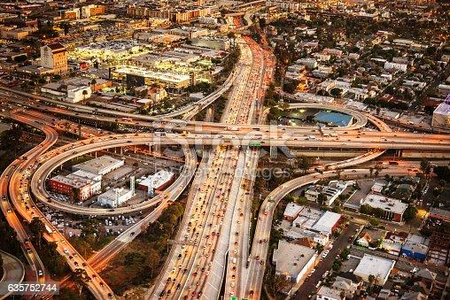 istock Los Angeles crossway junction aerial view 635752744