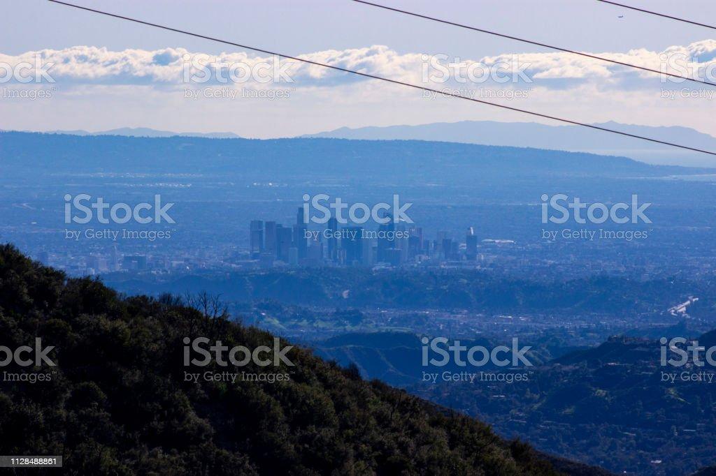 Los Angeles - Distant Skyline stock photo