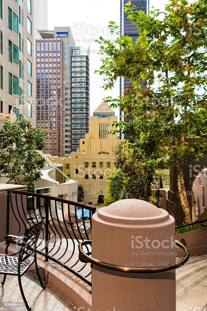 Los Angeles Downtown Detail - Library stock photo