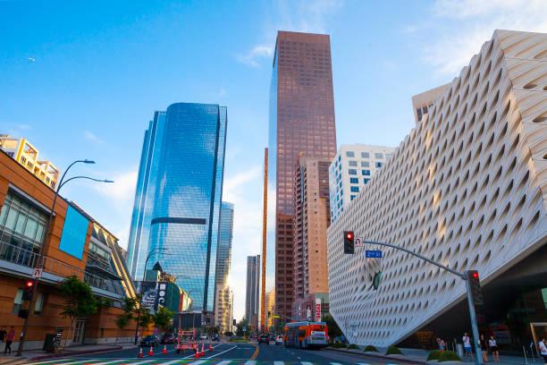 Los Angeles Downtown-Grand Avenue mit Skyscrapers – Foto