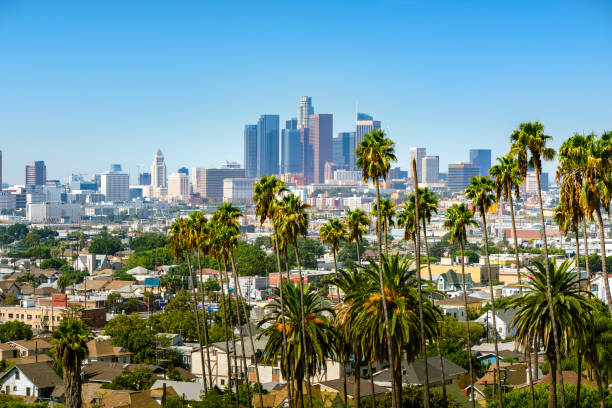 los angeles downtown - financial district stock pictures, royalty-free photos & images