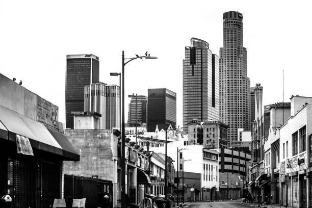 Centro de la ciudad de Los Ángeles - foto de stock